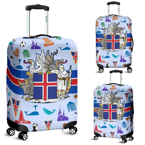 1stIceland Luggage Cover, Iceland Coat Of Arms & Symbol Ha8 - 1st Iceland