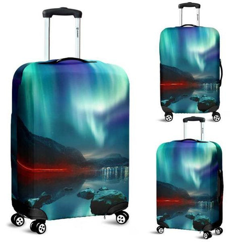 1stIceland Luggage Cover, Icelandic Turtle Northern Lights H4 - 1st Iceland