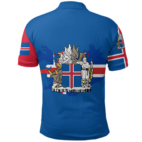 Image of 1sticeland Polo Shirt, Icelandic Horse Coat Of Arms K4 - 1st Iceland