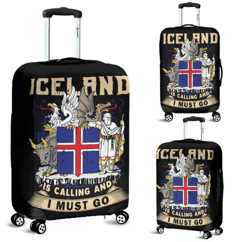 1stIceland Luggage Cover, Iceland Coat Of Arms Iceland Is Calling A2 - 1st Iceland