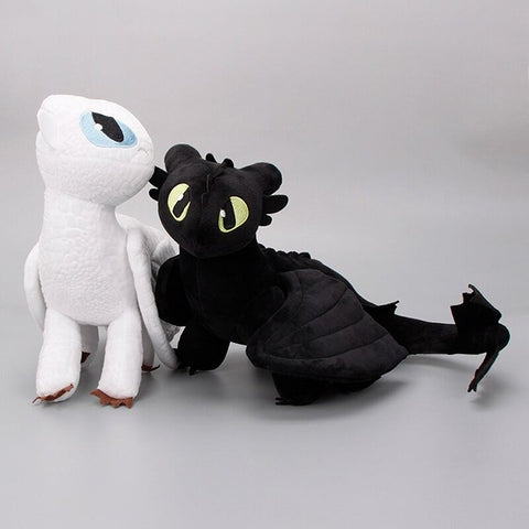 2pcs/Set Night Fury & Light Fury Plushies TH10
