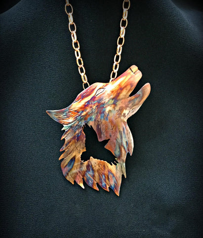 Raven Wolf Necklace TH19 - 1st Iceland