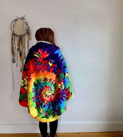 Grateful Dead Tie Dye Spiral Dancing Hooded TH7