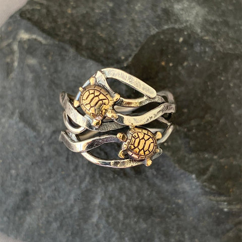 Double Turtle Friendship Ring TH7 - 1st Iceland