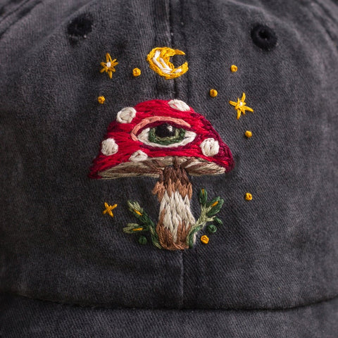 Image of Embroidered Mushroom Cap TH19 - 1st Iceland