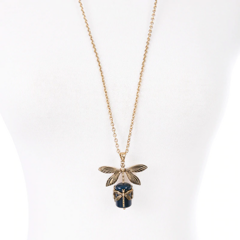 Vintage Dragonflies Necklace TH7