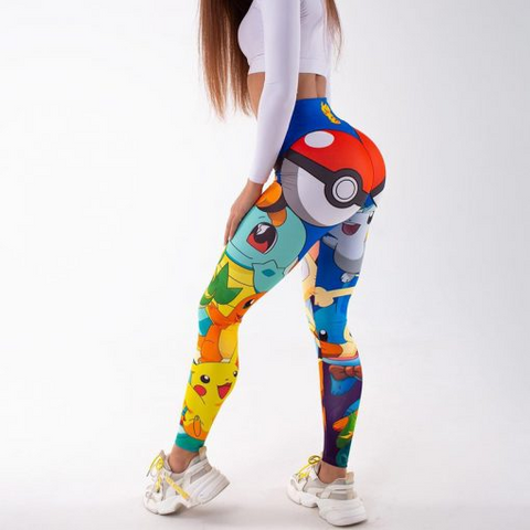 Colorful Eeveelutions Leggings - 1st Iceland