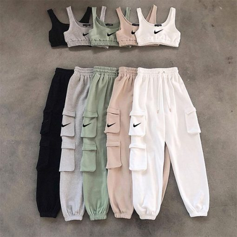 Trendy High Waist Jogger Set