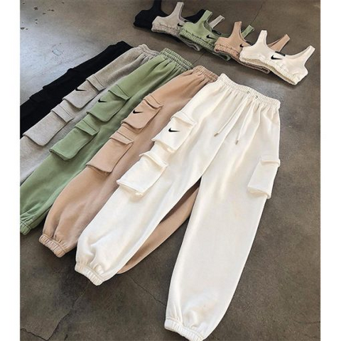Trendy High Waist Jogger Set - 1st Iceland