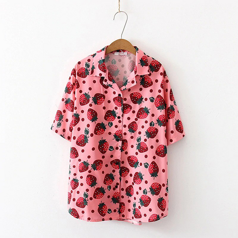 Kawaii Strawberry Shirt TH19