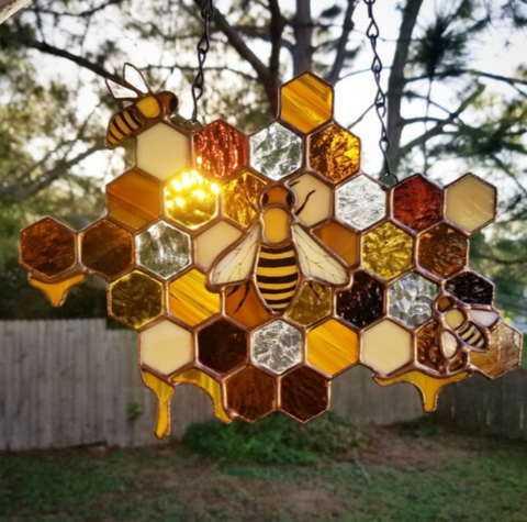 Image of Queen Honey Bee Suncatcher TH00 - 1st Iceland