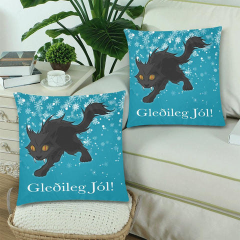 Image of 1stIceland Gledileg Jol Zippered Pillow Case, Yule Cat A0 2 - 1st Iceland