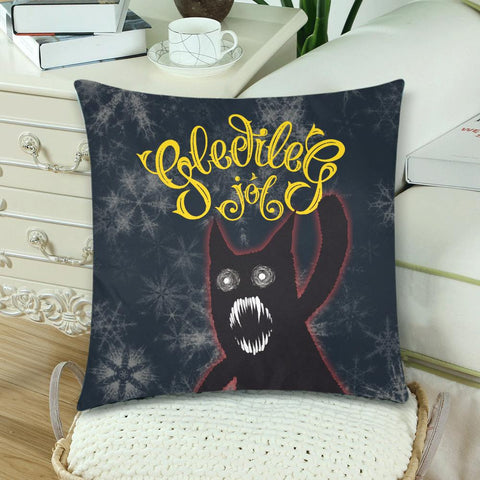 Image of 1stIceland Gledileg Jol Zippered Pillow Case, Yule Cat A0 1 - 1st Iceland