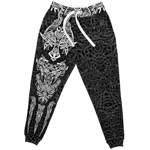 1stIceland Vikings Jogger, Fenrir The Vikings Wolves Th00 Black - 1st Iceland