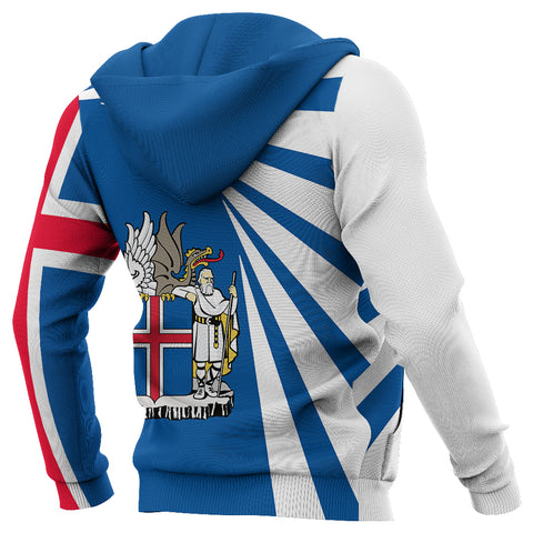 1stIceland Custom Personalized Hoodie, Iceland Flag Map Coat Of Arms TH50 - 1st Iceland