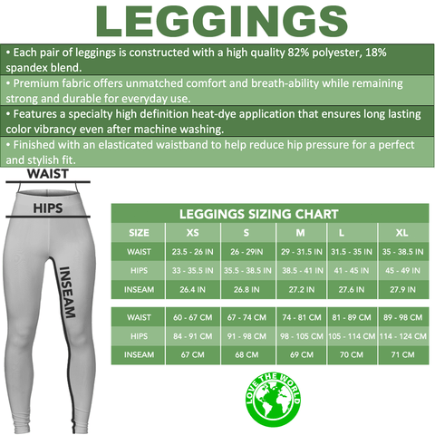 Image of 1stIceland Viking  Leggings, Vegvisir Runes A7 - 1st Iceland