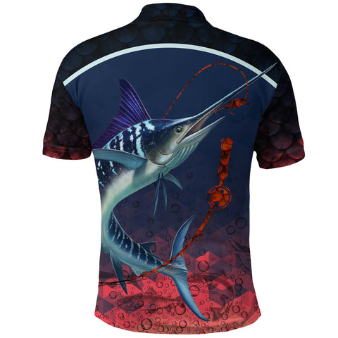 1stIceland Marlin Fishing Polo Shirt K8 - 1st Iceland