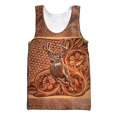 1stIceland Deer Hunting 3D Men's Tank Top TH12 - 1st Iceland