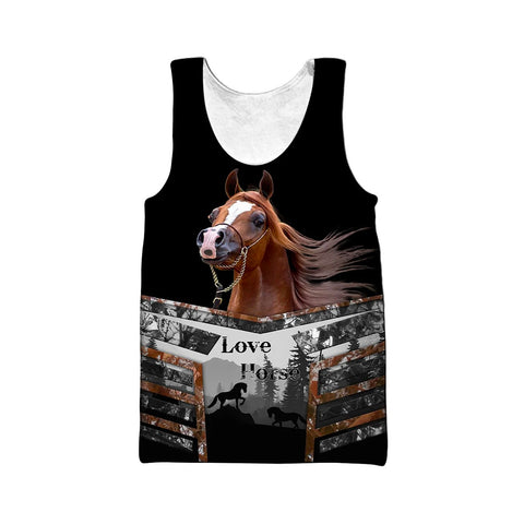 1stIceland Beautiful Horse Men's Tank Top TH12 - 1st Iceland