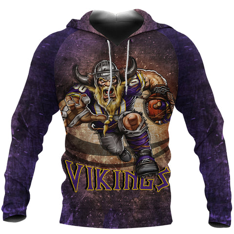 1sticeland Viking Pullover Hoodie, Minnesota Vikings Football K4 - 1st Iceland