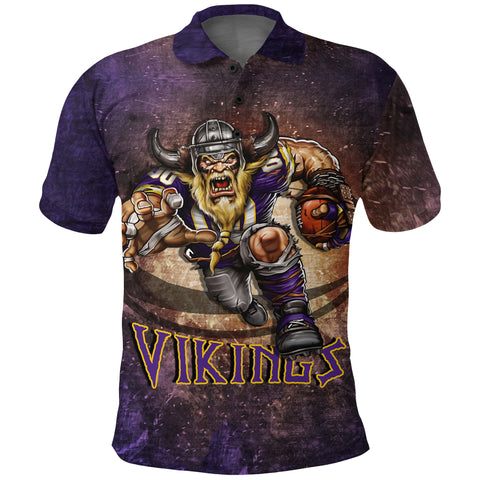 1stIceland Viking Polo Shirt, Minnesota Vikings Football Golf Shirt K4 - 1st Iceland