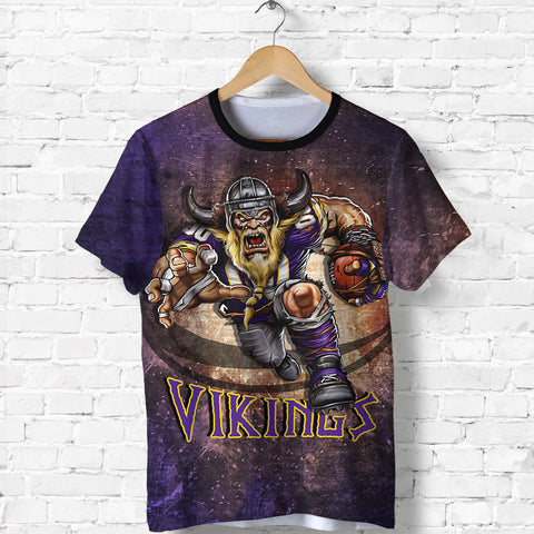 1stIceland Viking T Shirt, Minnesota Vikings Football K4 - 1st Iceland