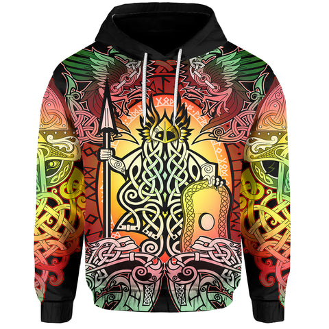 1stIceland Viking Pullover Hoodie, Reggae Odin Raven Th5 - 1st Iceland