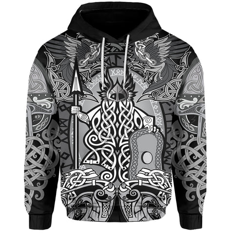 1stIceland Viking Hoodie - Odin with The Raven Of Odin TH5 - 1st Iceland