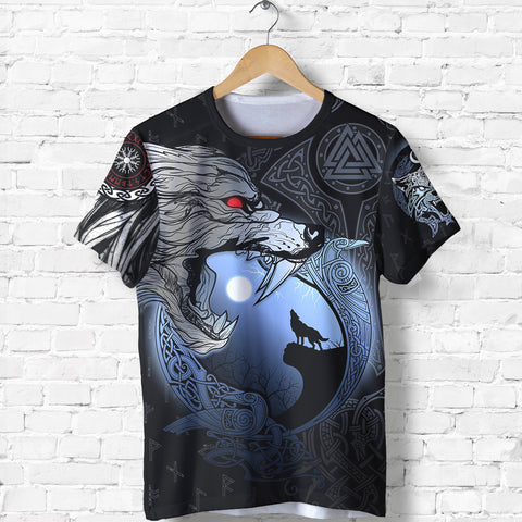 1stIceland Viking Moon Wolf T-Shirt TH12 - 1st Iceland