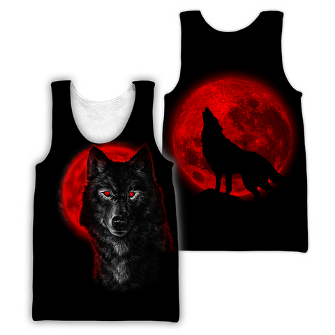 1stIceland Wolf Moon Blood Men's Tank Top TH12 - 1st Iceland