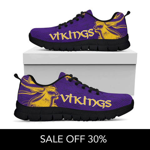Image of 1stIceland Viking Sneakers, Minnesota Vikings Football Runes TH7 - 1st Iceland