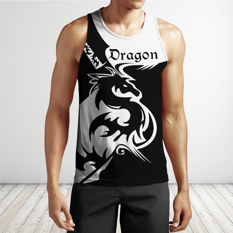 1stIceland Black dragon Men's Tank Top TH12 - 1st Iceland