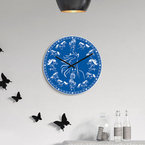 Image of 1stIceland Wall Clock, Icelandic Horses Round TH0 - 1st Iceland
