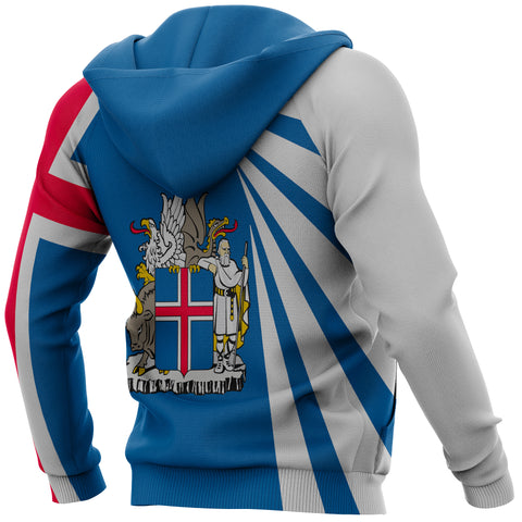 Image of 1stIceland Pullover Hoodie, Iceland Flag MapCoat Of Arms TH50 - 1st Iceland