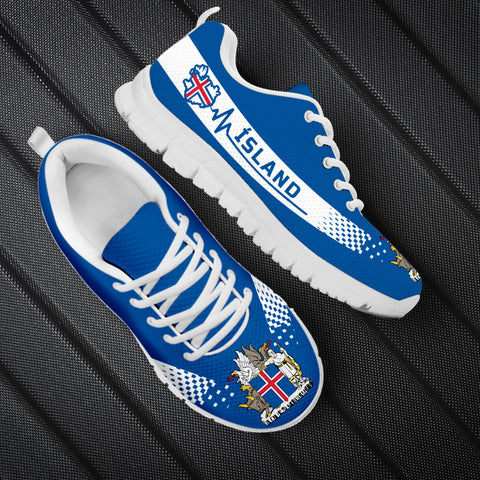 Image of 1stIceland Sneakers, Ísland Heartbeat Coat Of Arms TH0 - 1st Iceland