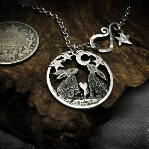 Moon Gazing Hare Necklace TH10 - 1st Iceland