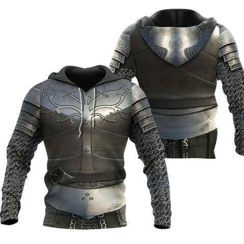 1stIceland Hoodie, 3D Chainmail Knight Medieval Armor Th00 - 1st Iceland