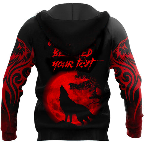 Image of (custom) 1stIceland The Red Moon Wolf 3D Printed Unisex Zip Hoodie TH12 - 1st Iceland