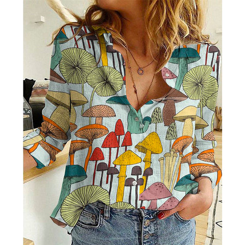 Image of Colorful Mushrooms Shirt TH19 - 1st Iceland