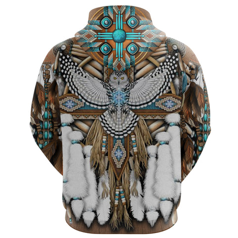 Image of Native American Breastplate Zip Hoodie K8 - 1st Iceland
