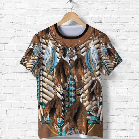 Native American Breastplate T Shirt K8 - 1st Iceland
