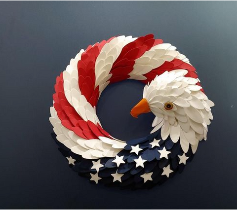 Image of American Eagle Wreath - 1st Iceland