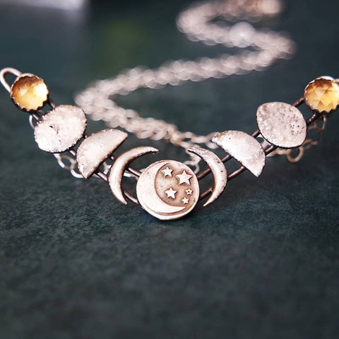 Luminous Moon Phases Necklace TH17 - 1st Iceland