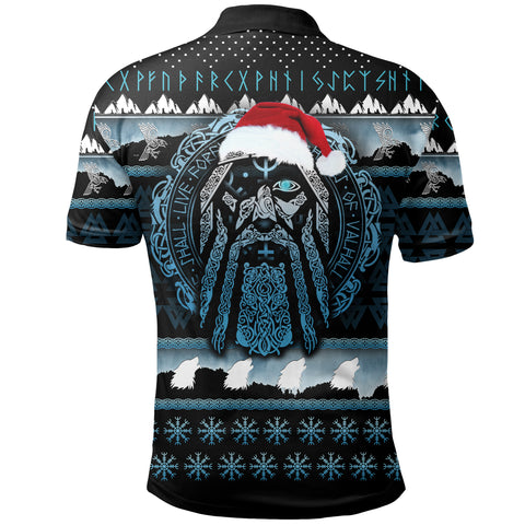 Image of 1stIceland Viking Polo Shirt, Odin Christmas Yule K5 - 1st Iceland