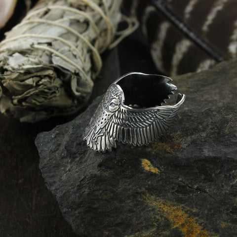 Owl Adjustable Ring TH17 - 1st Iceland