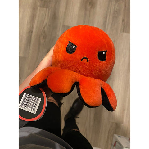 Reversible Emotion Octopus Plushie TH7