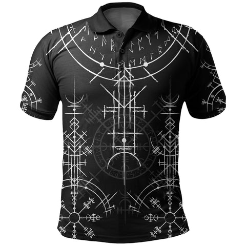 1stIceland Magic Ancient Viking Tattoo Polo Shirt