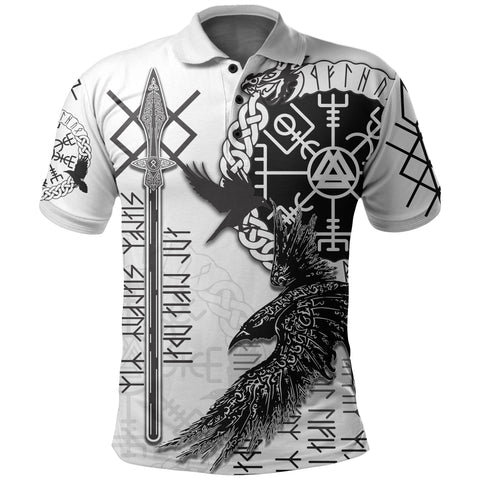Viking Gungnir Polo Shirt-Given To Odin, Myself To Myself White TH4 - 1st Iceland