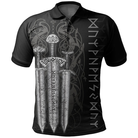 1stIceland Viking Sword Polo Shirt TH4 - 1st Iceland