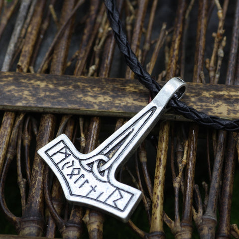 Image of 1stIceland Jewelry, Norse Vikings Simple Mjolnir Thor's Hammer Stainless Steel Necklace - 1st Iceland